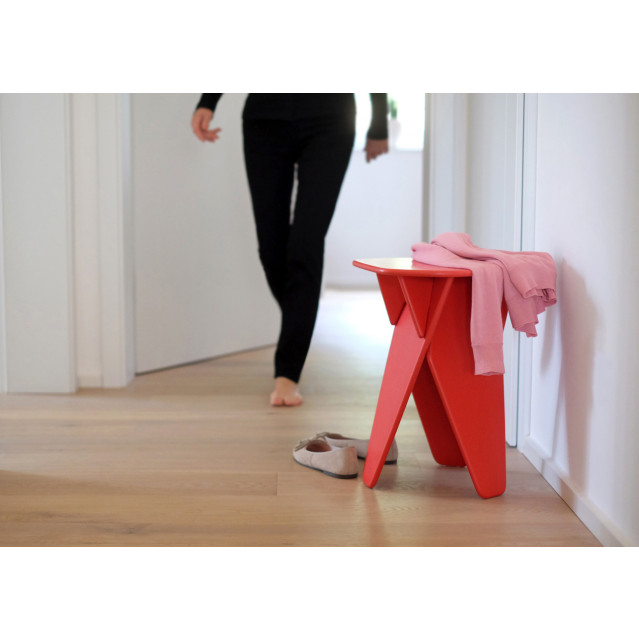 Side Table Wedge | Red