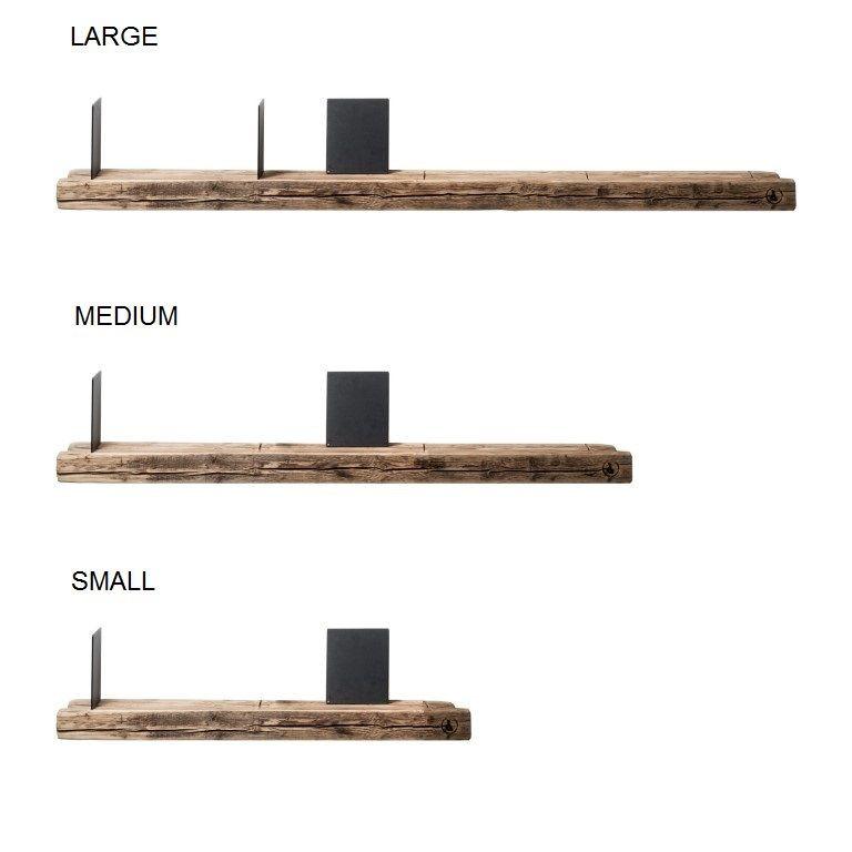 Reclaimed Wood 01 Wall Shelf   Large