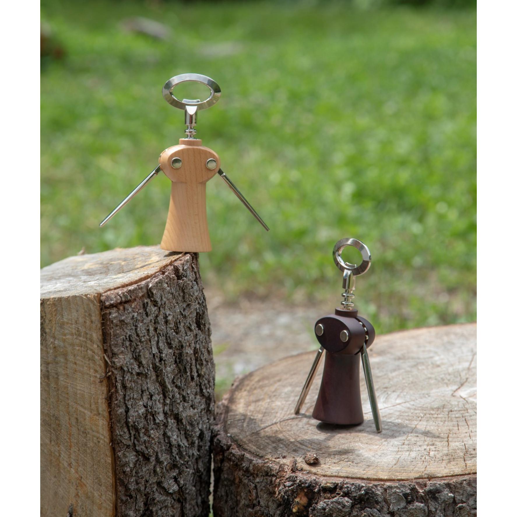 Korkenzieher Weinflaschenöffner Merlot | Dunkles Holz