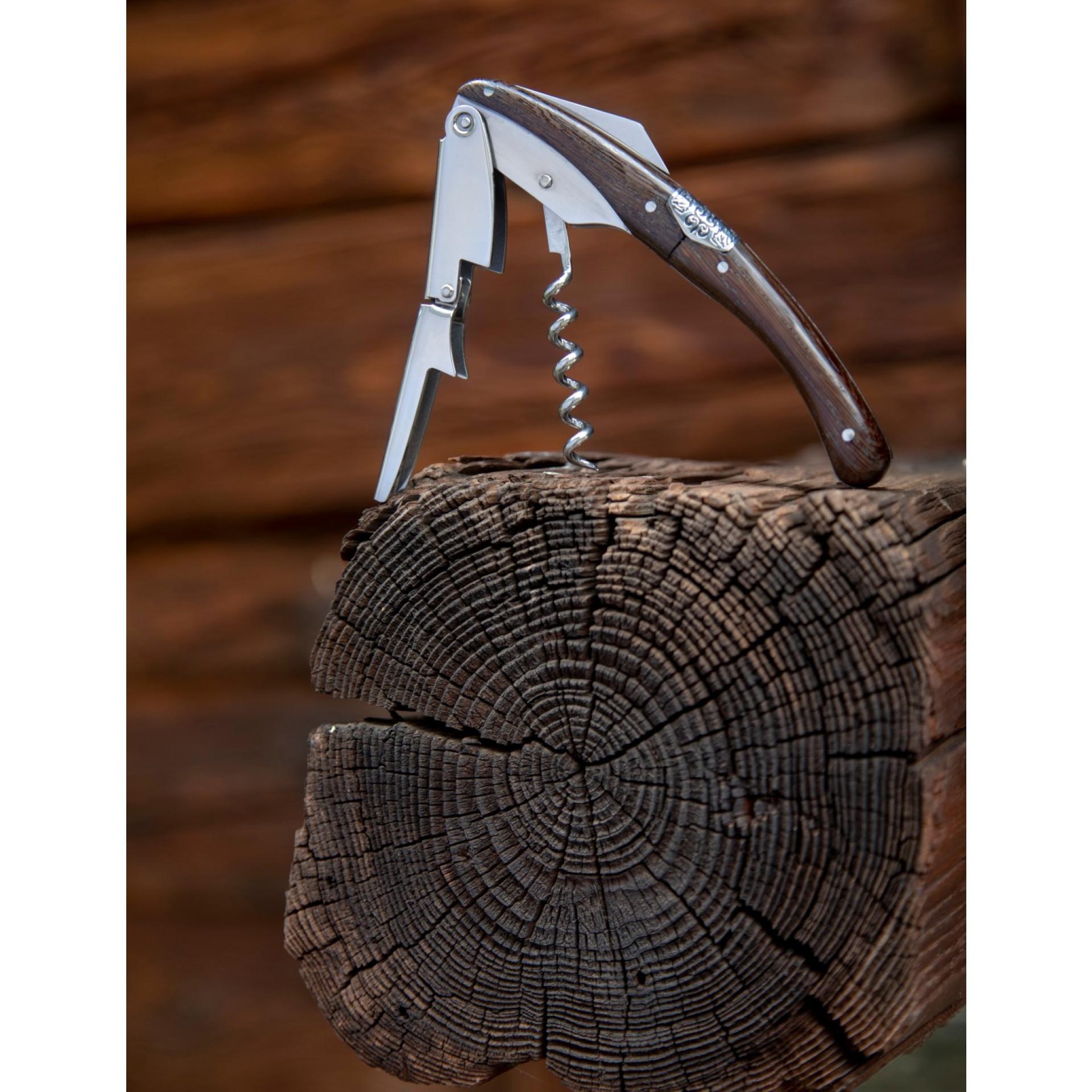 Korkenzieher Primitivo | Dunkles Holz