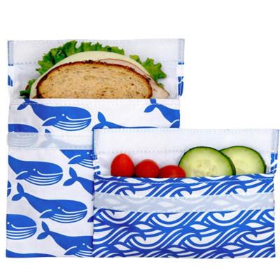 Wiederverwendbares Velcro-Sandwich 2-Pack | Blauwal