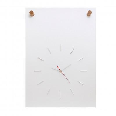 Poster + Uhr | Weiß