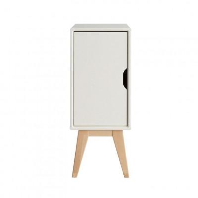 Nachttisch mit Tür Kolo | Weiß