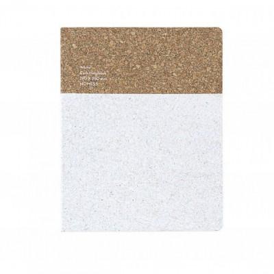 Cork Notebook Large | White