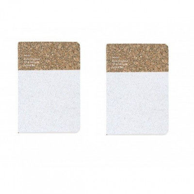Small Cork Notebook Set of 2 | White