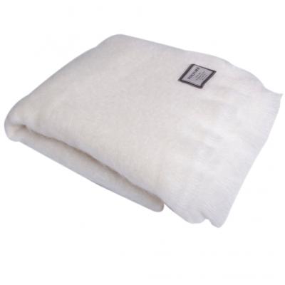 Mohair Blanket   White