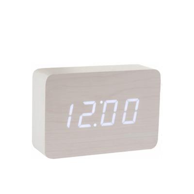 Brick Click Clock | Weiß & Weiß