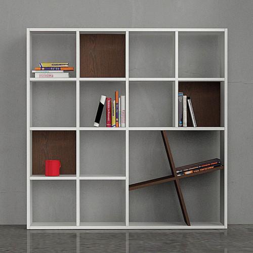 Honey Book Shelf, White & Wenge
