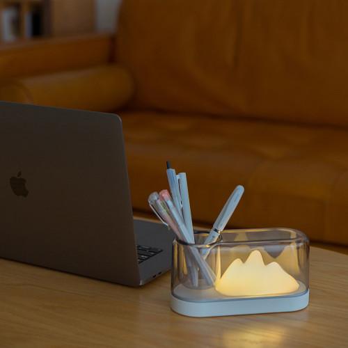 Schreibtischlampe in Bergform | Weiß