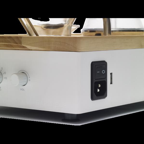 Tea or Coffee Brewing Alarm Clock | White