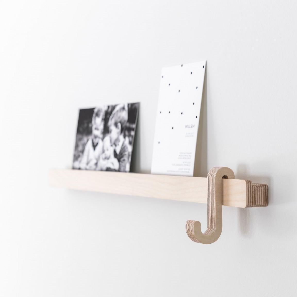 Photo Shelf with Hanger | Wood