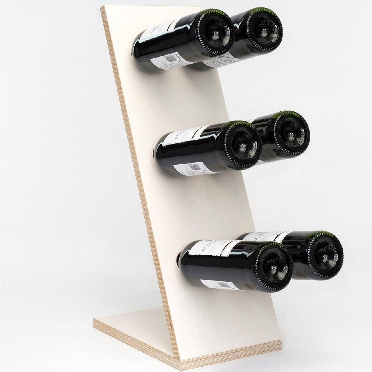 Wine Rack Compact Six | White