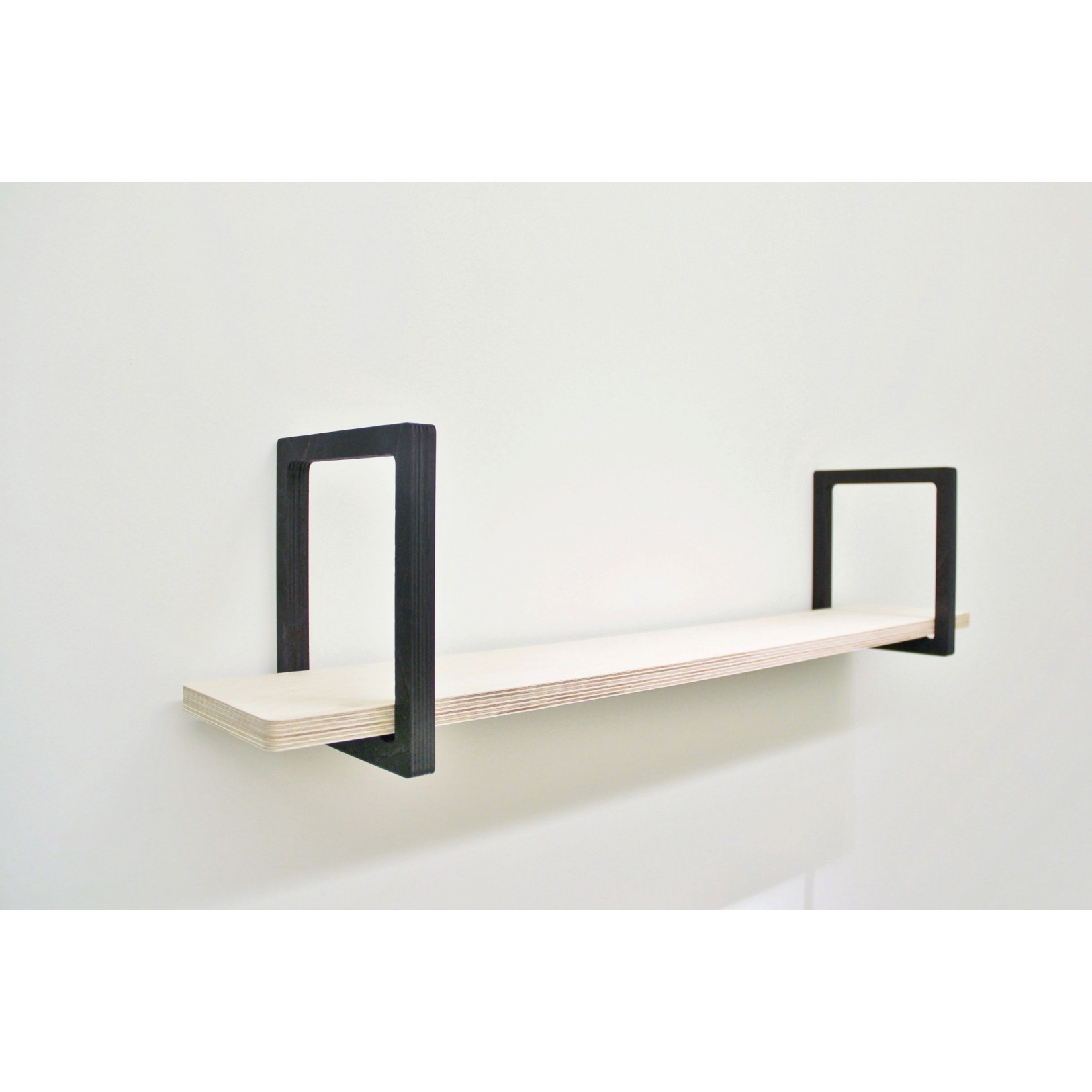 Wall Shelf | Wood & Black