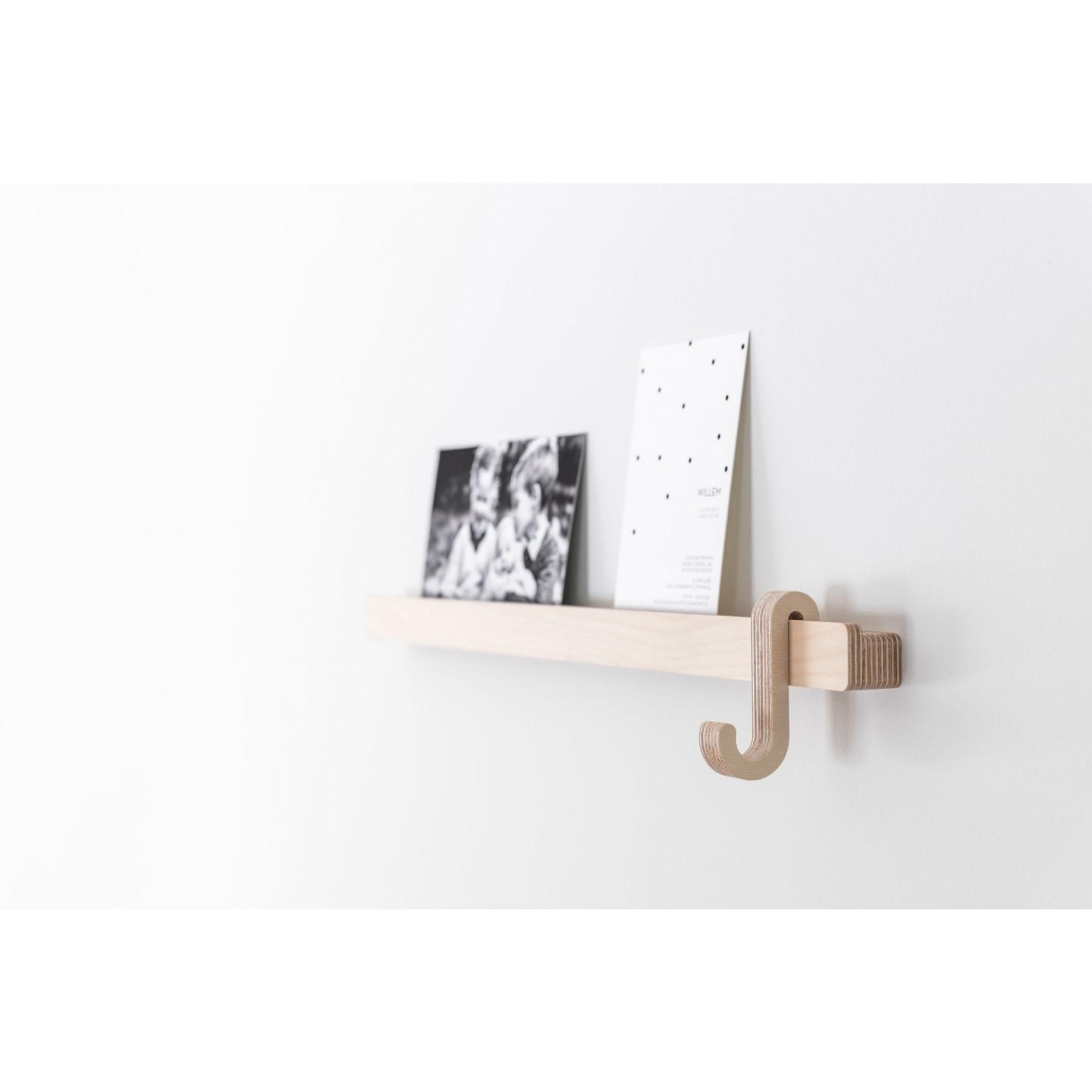 Photo Shelf with Hanger   Black
