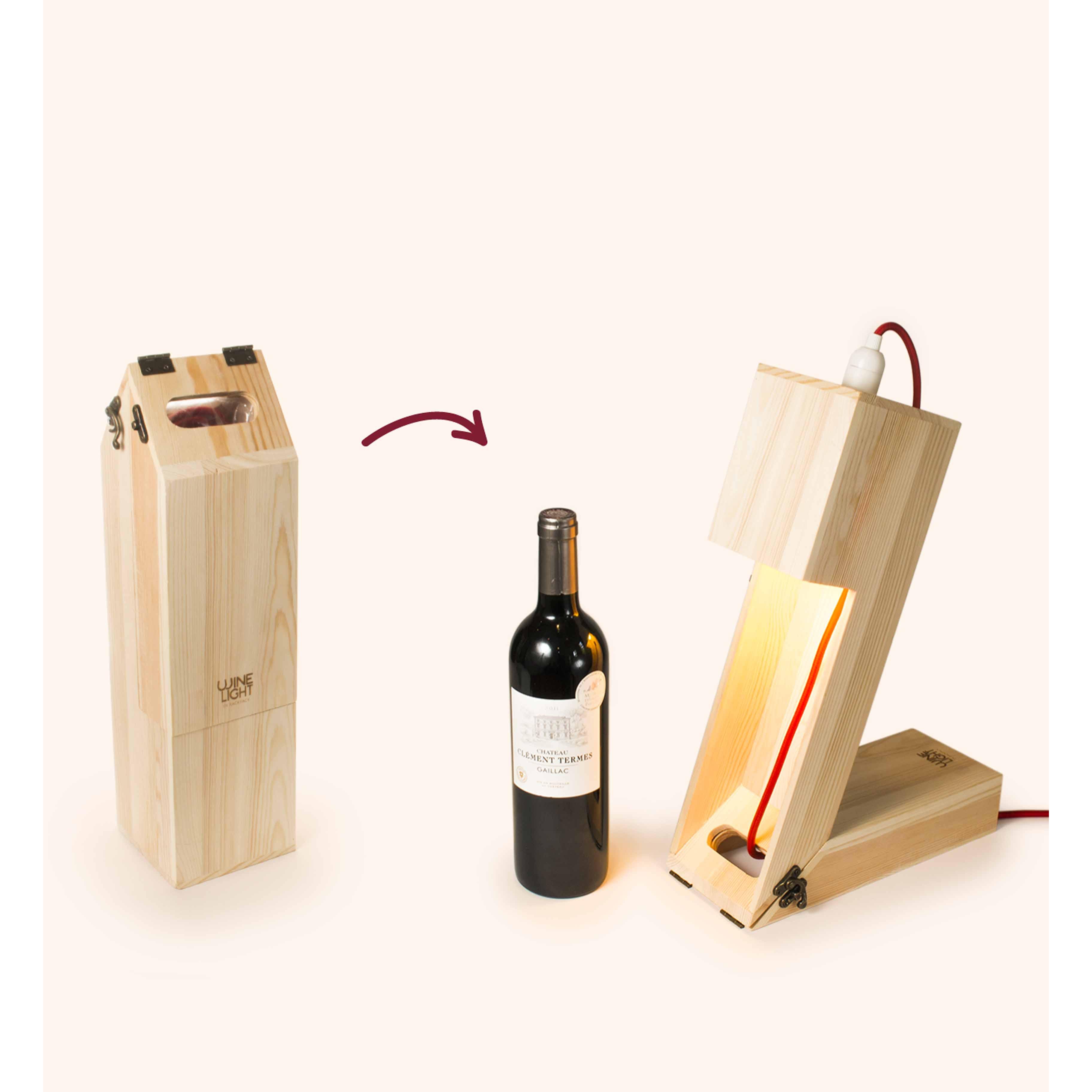 2-in-1-Weinkiste & Tischleuchte Wine Light
