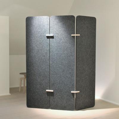 Raumteiler | Dunkelgrau / Holz
