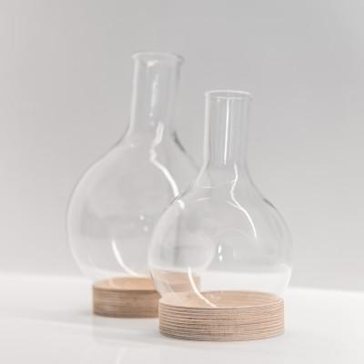 Flasche mit Untersetzer | Holz