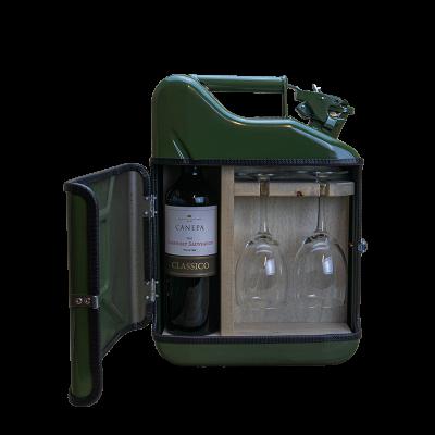 Geschenkpaket Jerrycan Bar Wein 10 L | Grün