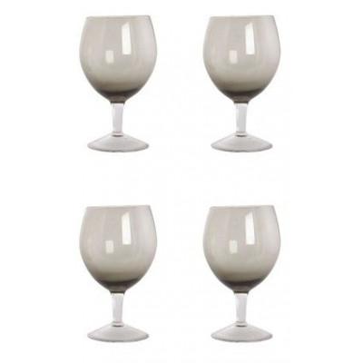 Weingläser 4er-Set | Grau geräuchert