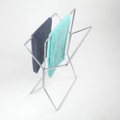Wingman Towel Rack   Matte Chrome