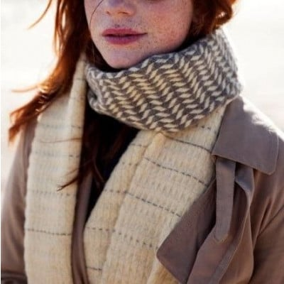 Woven Scarf   Brown