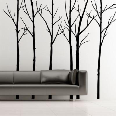 Winterbäume Schwarz