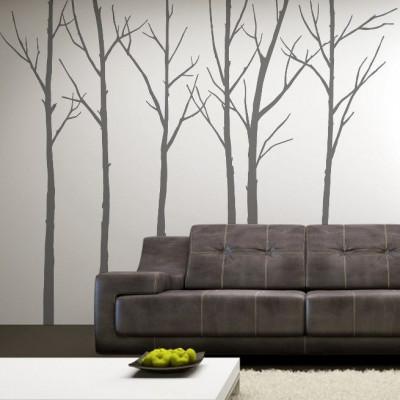 Winterbäume Grau