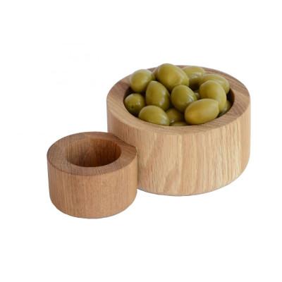 Oliven- und Kernobstschalen Zwei für einen