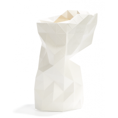 Papier Vase Abdeckung | Weiß