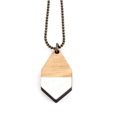 Diamante Small Necklace   White