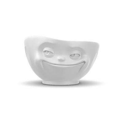 Schüssel Grinsen 500 ml | Weiß