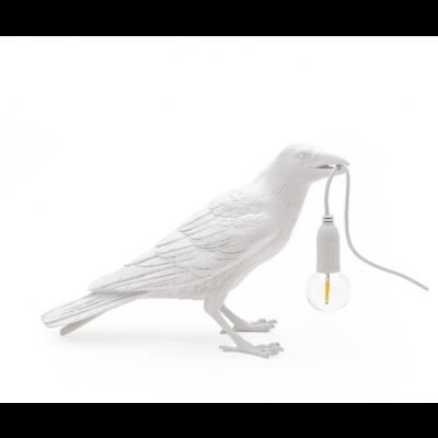 Lampe Vogel Warten | Weiß