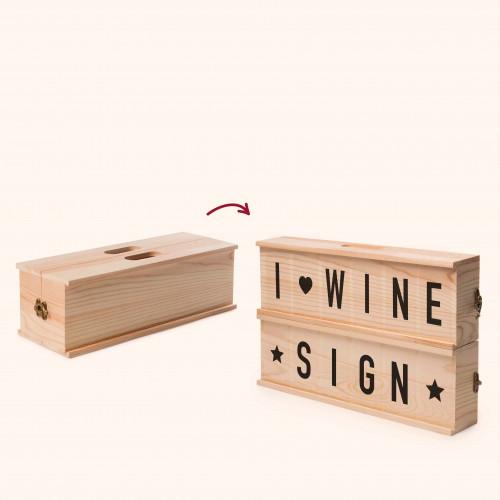 2-in-1 Weinkiste & Briefkasten Wine Sign