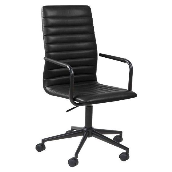 Desk Chair Brandy   Black