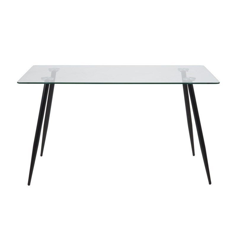 Wendy Dining Table | Clear, Metal