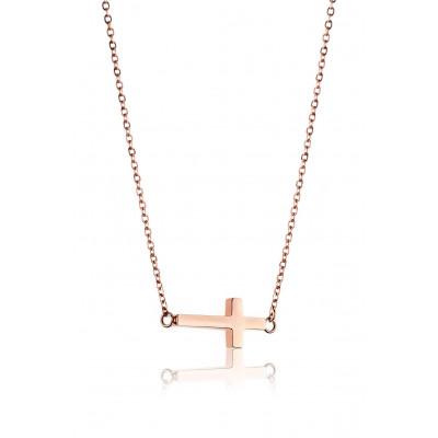 Necklace Cross   Rosé