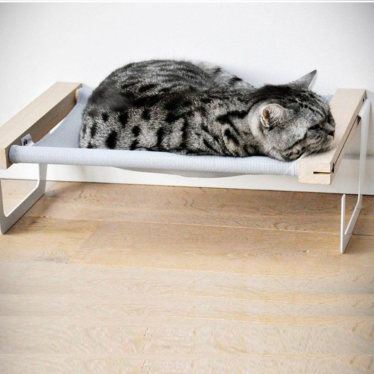 Katzenhängematte | Hellgrau
