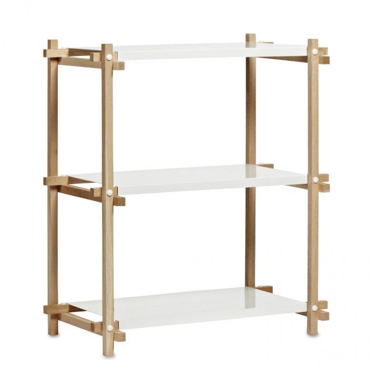 Woody Shelf Column Low | White