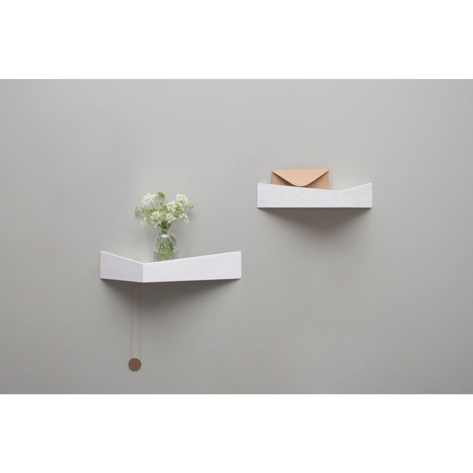 Shelves Small + Medium Set of 2 Pelican   White