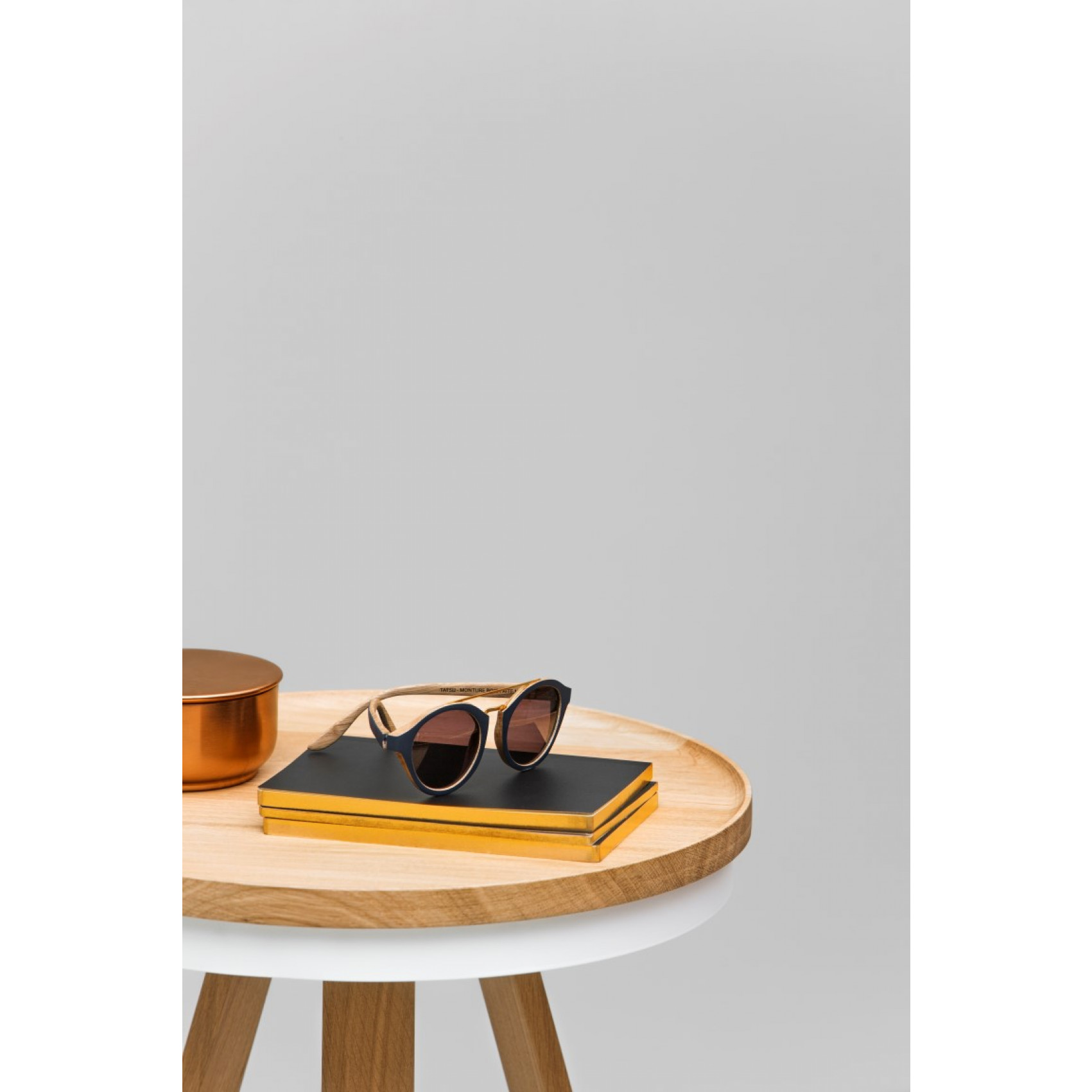 Coffee Table with Storage Space Batea Small   Oak & White