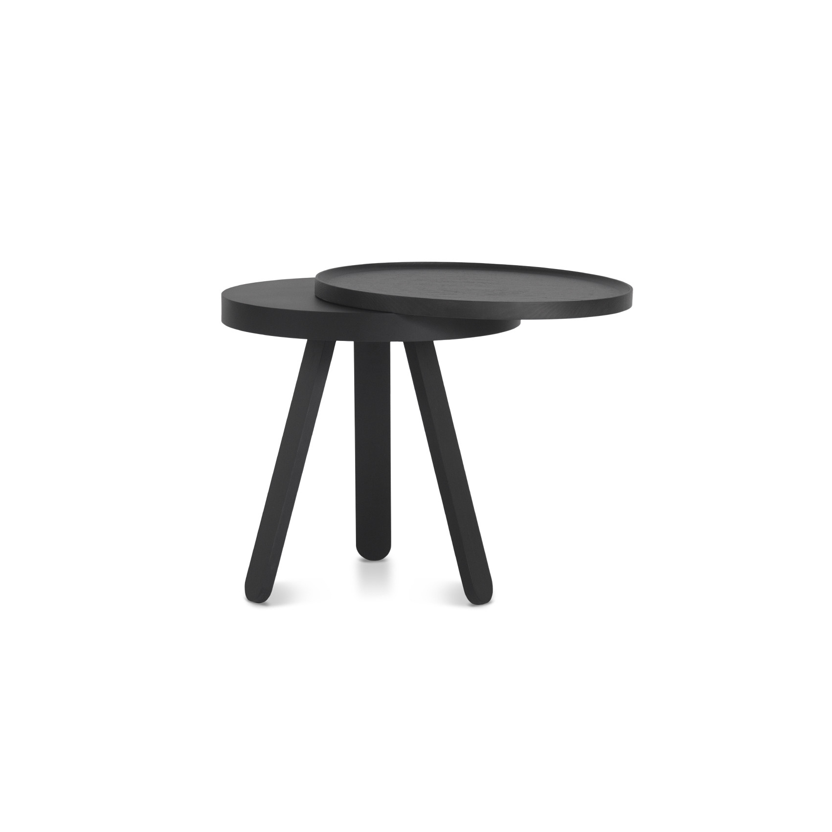 Coffee Table with Storage Space Batea Small   Black