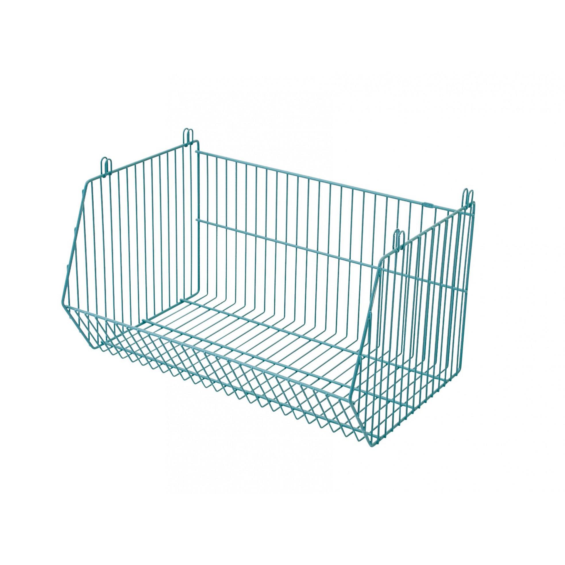 Stackable Storage Basket Living Basket   Turquoise