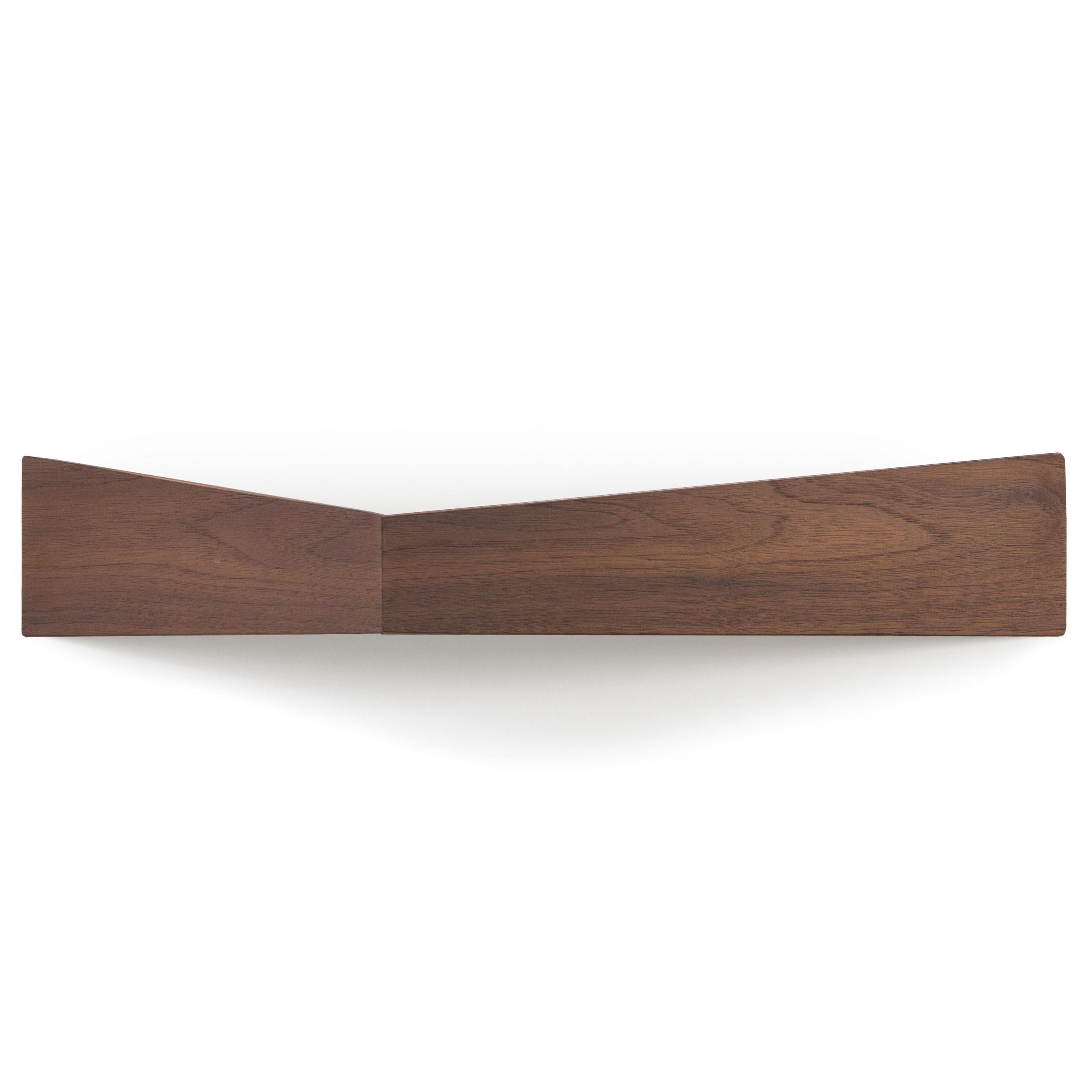 Shelves Set of 3 Pelican | Small Walnut + Medium Black + Large Walnut