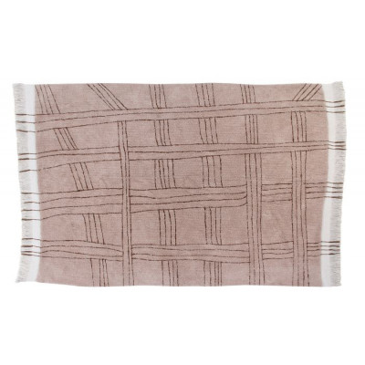 Teppich Wolle Africa Collection Shuka | Rosa