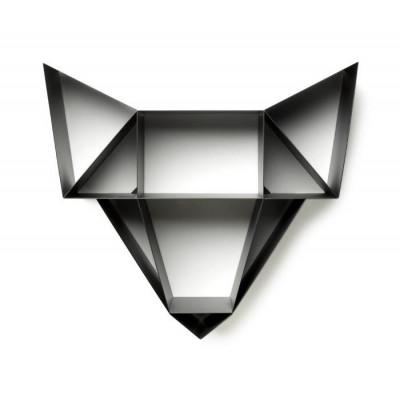 Regal Wolf | Holzkohle Schwarz