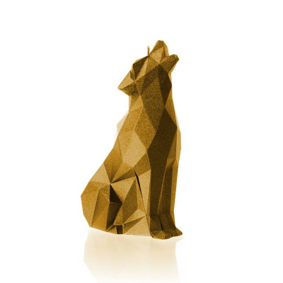 Candle   Wolf Poly Gold