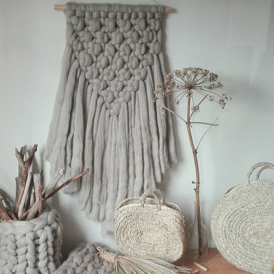 Wool Wall Hanger | Antracite