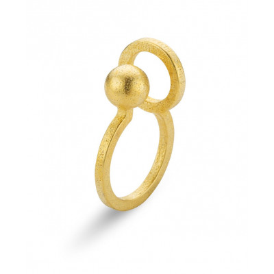 Gerahmter Ring #1 | Gold