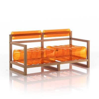 Kanapee Yoko-Holz   Orange