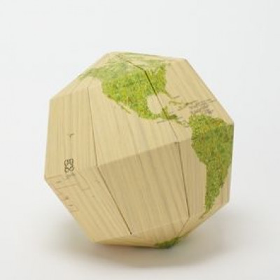 Wood Sectional Globe